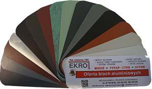 Kolorystyka blach aluminiowych w EKRO